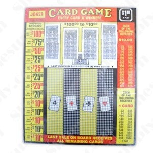 Joker Card Game Punchboard 1600 Card Count 1 Per Play